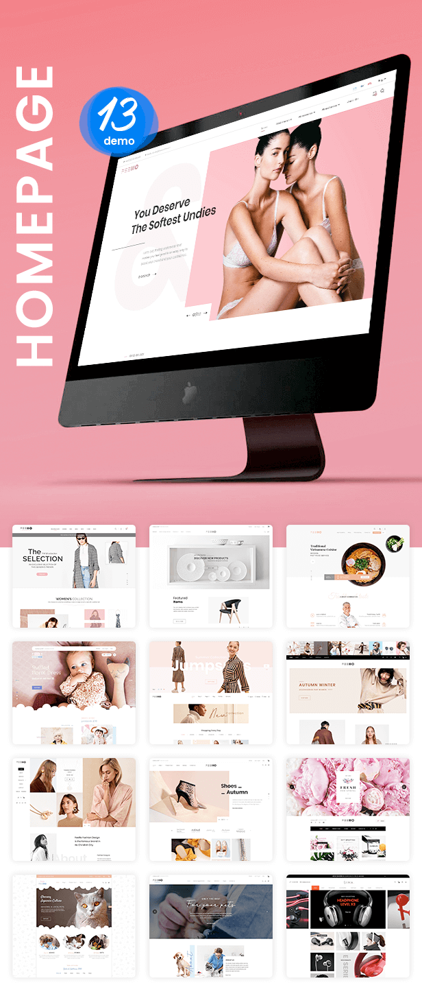 Shopify Fellio homepage listing