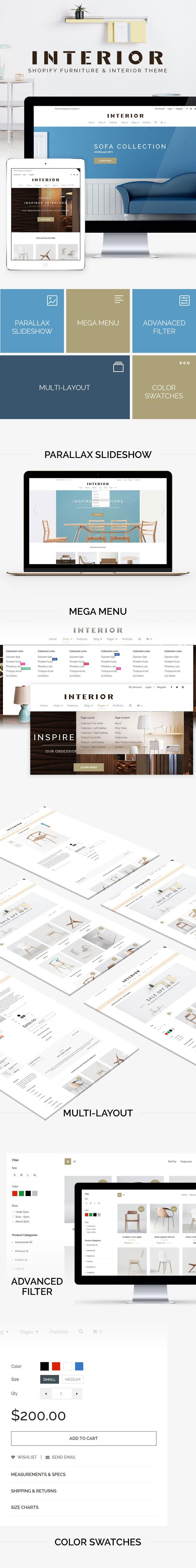 Minimalist Interior & Furniture Shopify Theme Responsive Minimalist Shopify Theme for Interior
