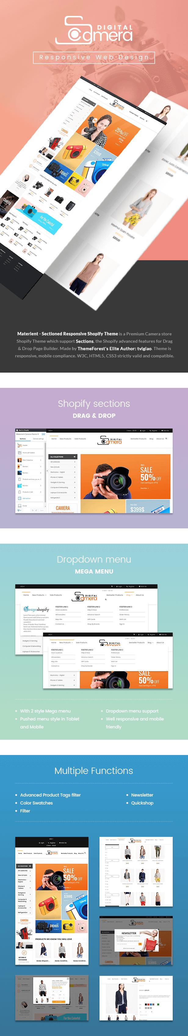 Materient - Camera Store Shopify Theme